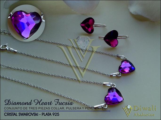 Diamond Heart Fucsia