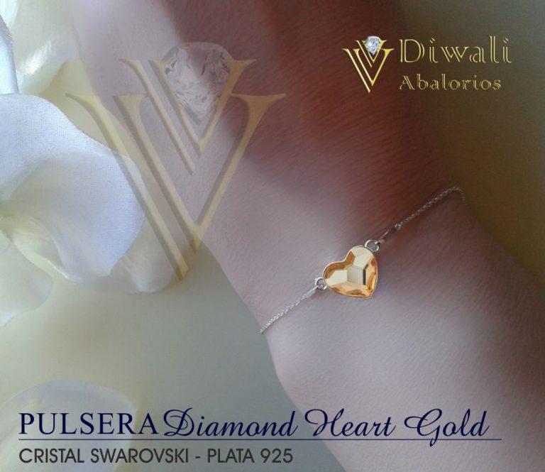 Pulsera Diamond-Heart Gold -02