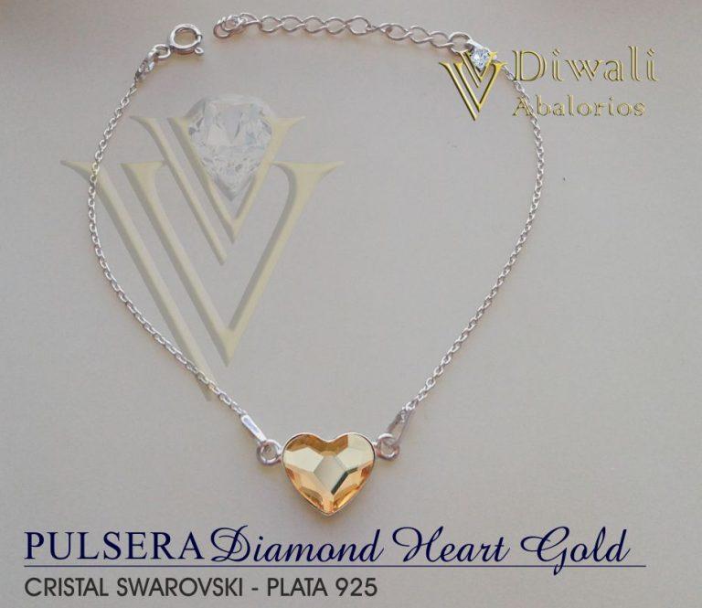 Diamond Heart  Gold 24,99.€