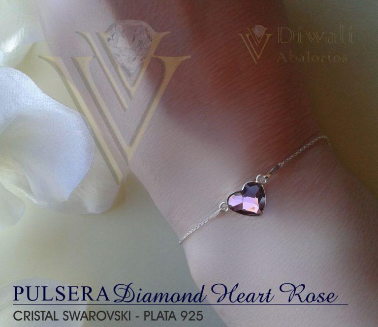 Pulsera Diamond-Heart Rose -02