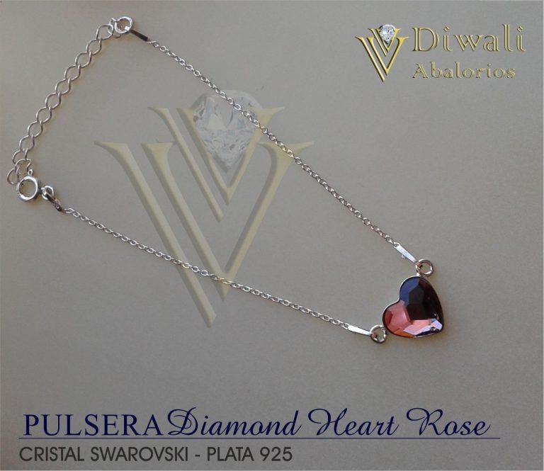 Pulsera Diamond-Heart-Rose