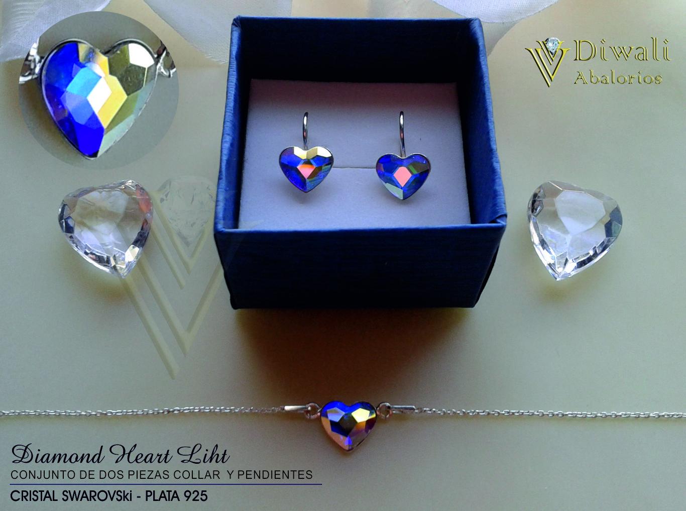 Conjunto Diamond Light collar y pendientes.