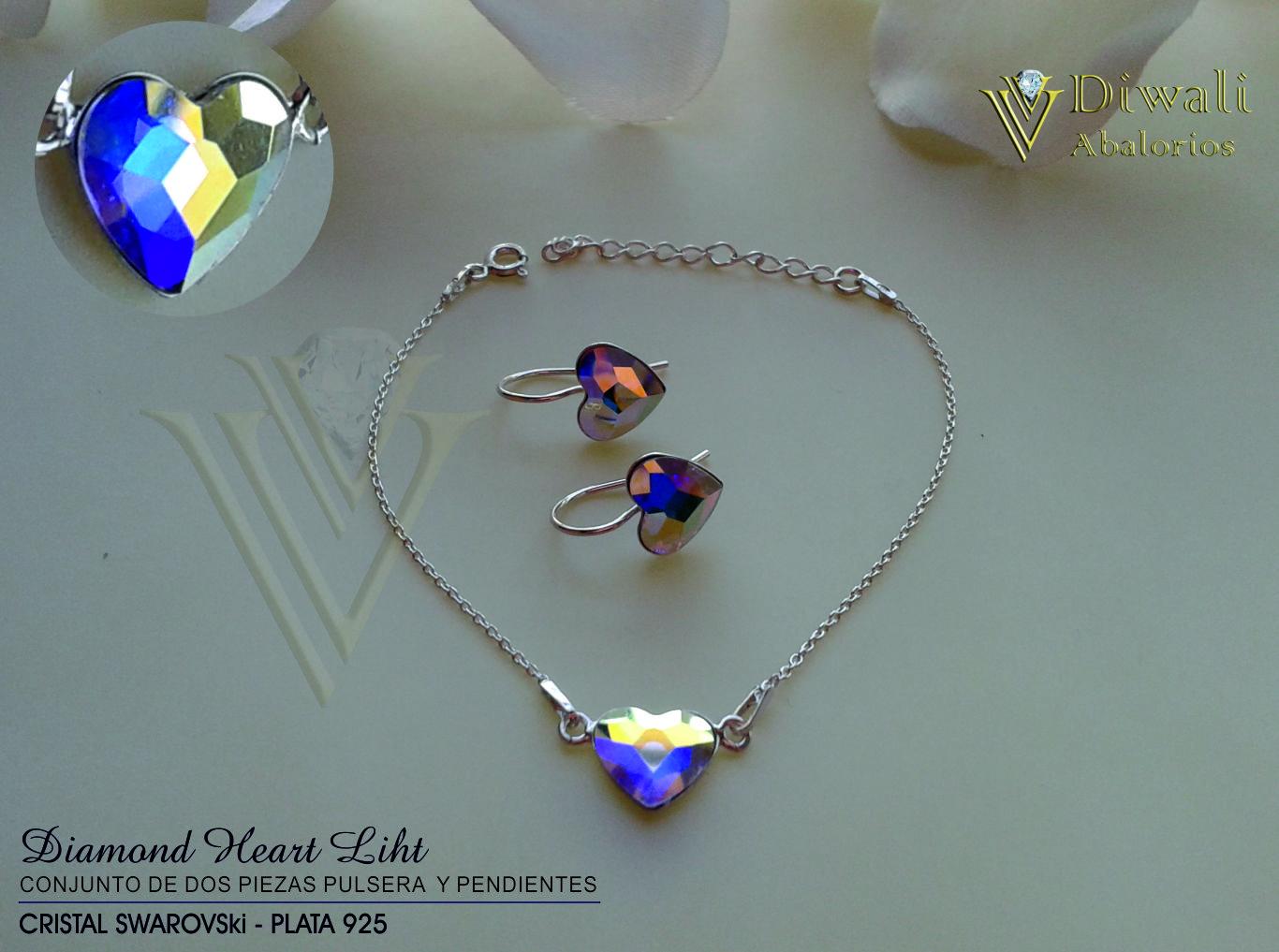 Conjunto Diamond Light Pulsera y pendientes.