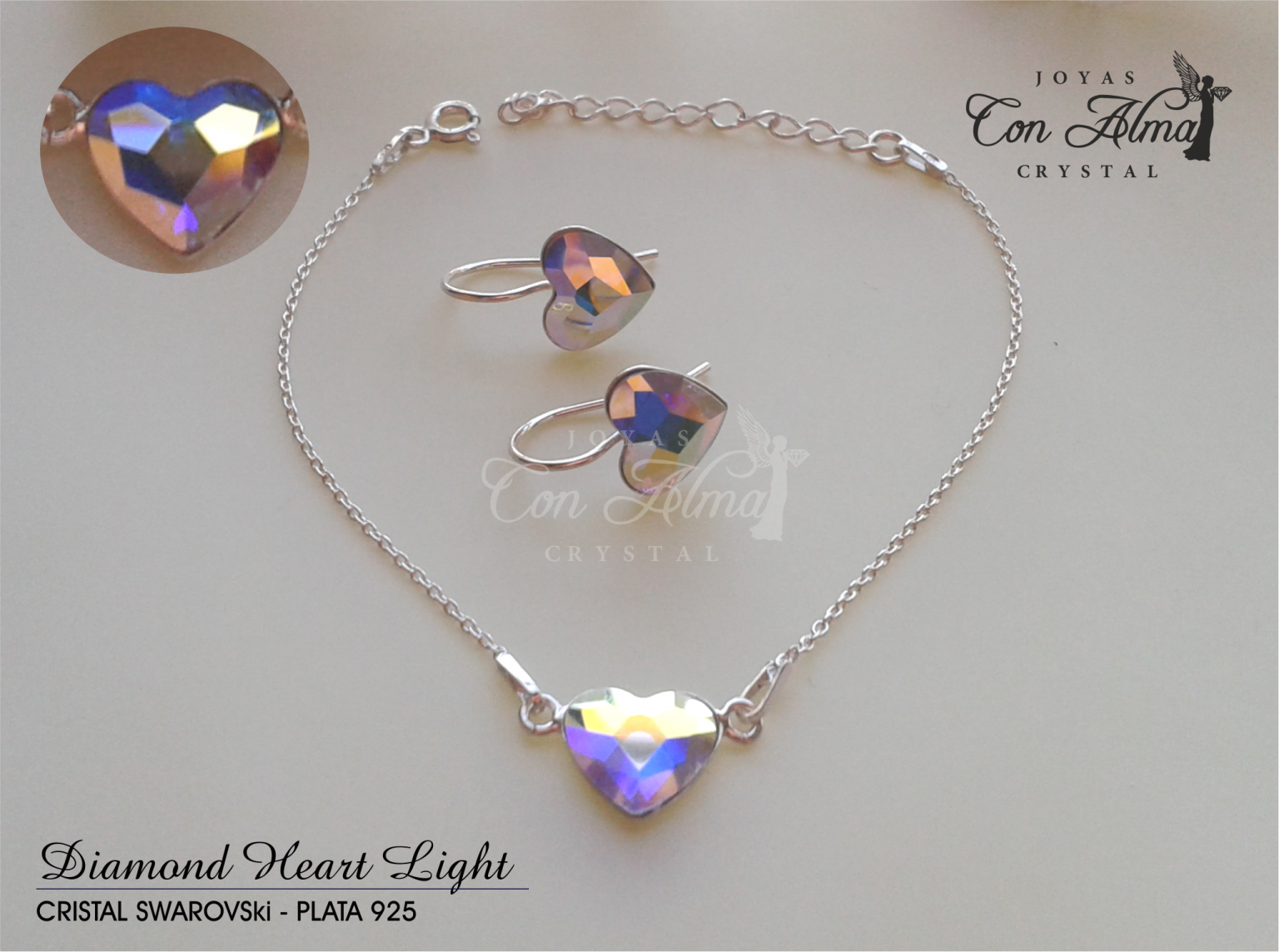 Conjunto Diamond Light Pulsera y Pendientes.  47,99 €