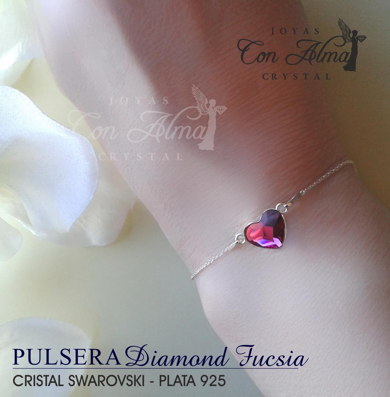 Pulsera Diamond  Fucsia 25,99.€